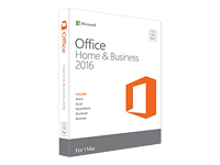 Microsoft Office for Mac Home and Business 2016 Bokspakke mediefri Mac