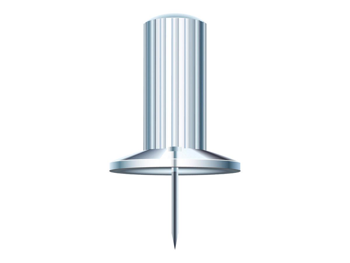 Exacompta - 25 Épingles - tête de 10 mm de diamètre, aiguille de 7 mm - clair