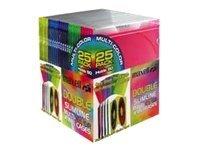 Maxell Double Slimline Jewel Cases Multi-Color CD-392