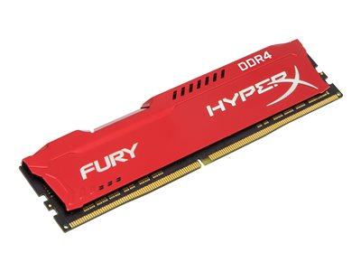 Kingston HyperX FURY - DDR4 - 32 GB: 4 x 8 GB - DIMM 288-pin - 2133 MHz / PC4-17000 - CL14 - 1.2 V - bez vyrovnávací paměti - bez ECC - červená