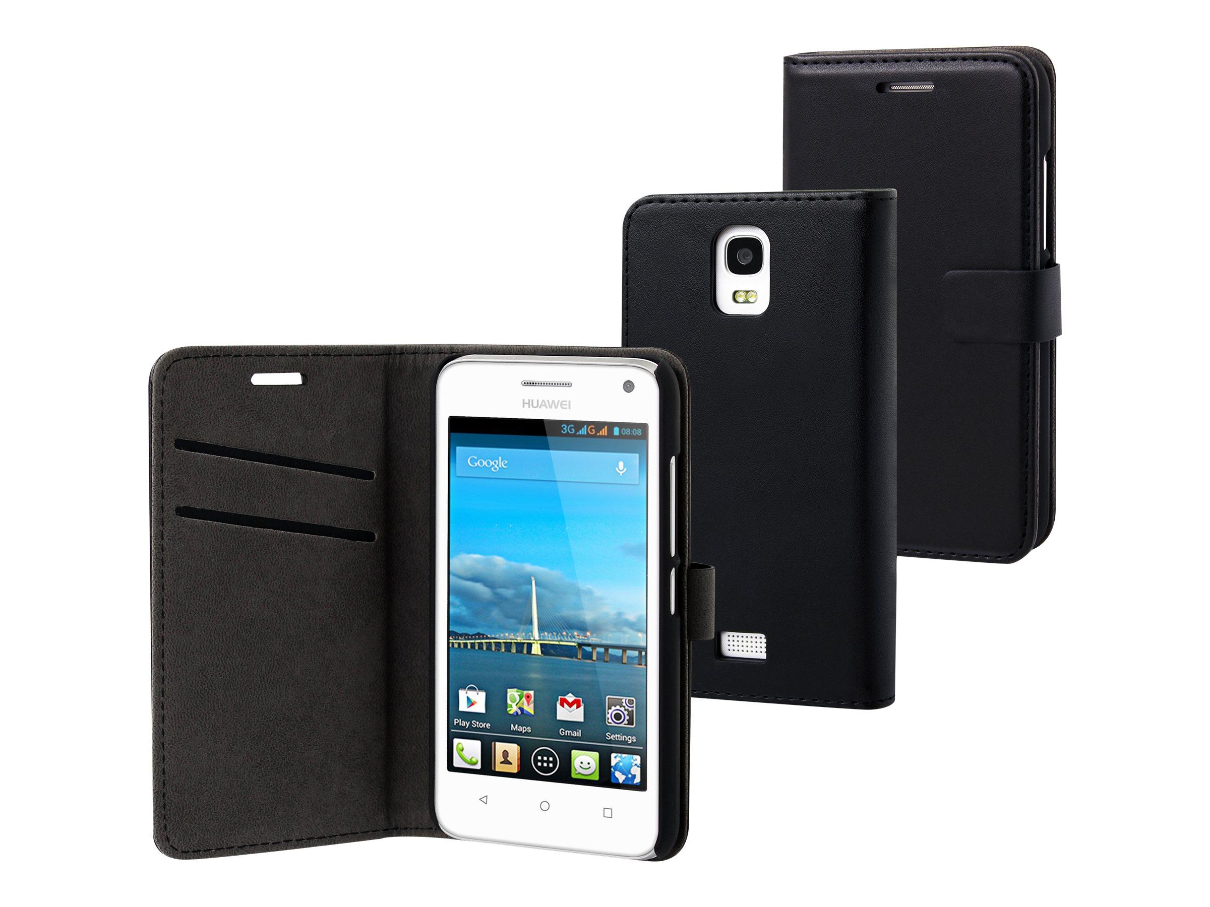 Muvit Slim S Folio - Protection à rabat pour Huawei Ascend Y360 - noir uni