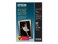 Epson Ultra Glossy Photo Paper Skinnende 130 x 180 mm 50 ark fotopapir