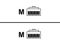 MCL Samar Cables et cordons r�seaux FCC6BM-1M/W