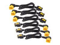 APC Power Cord Kit (6 ea) Locking C19 to C20 (90 Degree) 0.6m