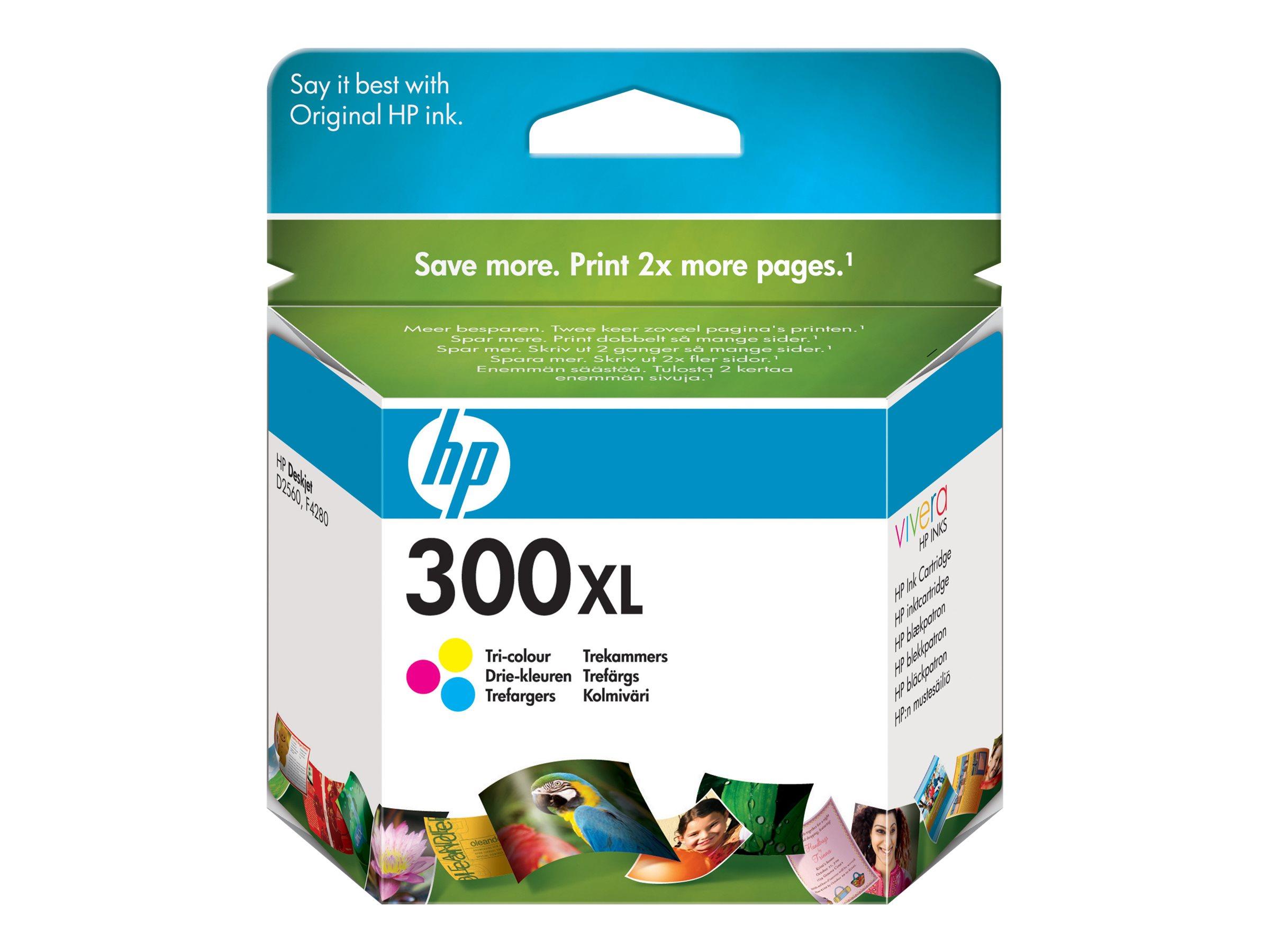 HP 300XL - à rendement élevé - tricolore à base de colorant - originale - cartouche d'encre