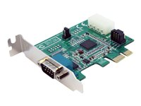 StarTech.com 1 Port Low Profile Native PCI Express RS232 Serial Card with 16950 UART - PCIe Serial Card - 1 Port LP RS232 Card (PEX1S952LP)