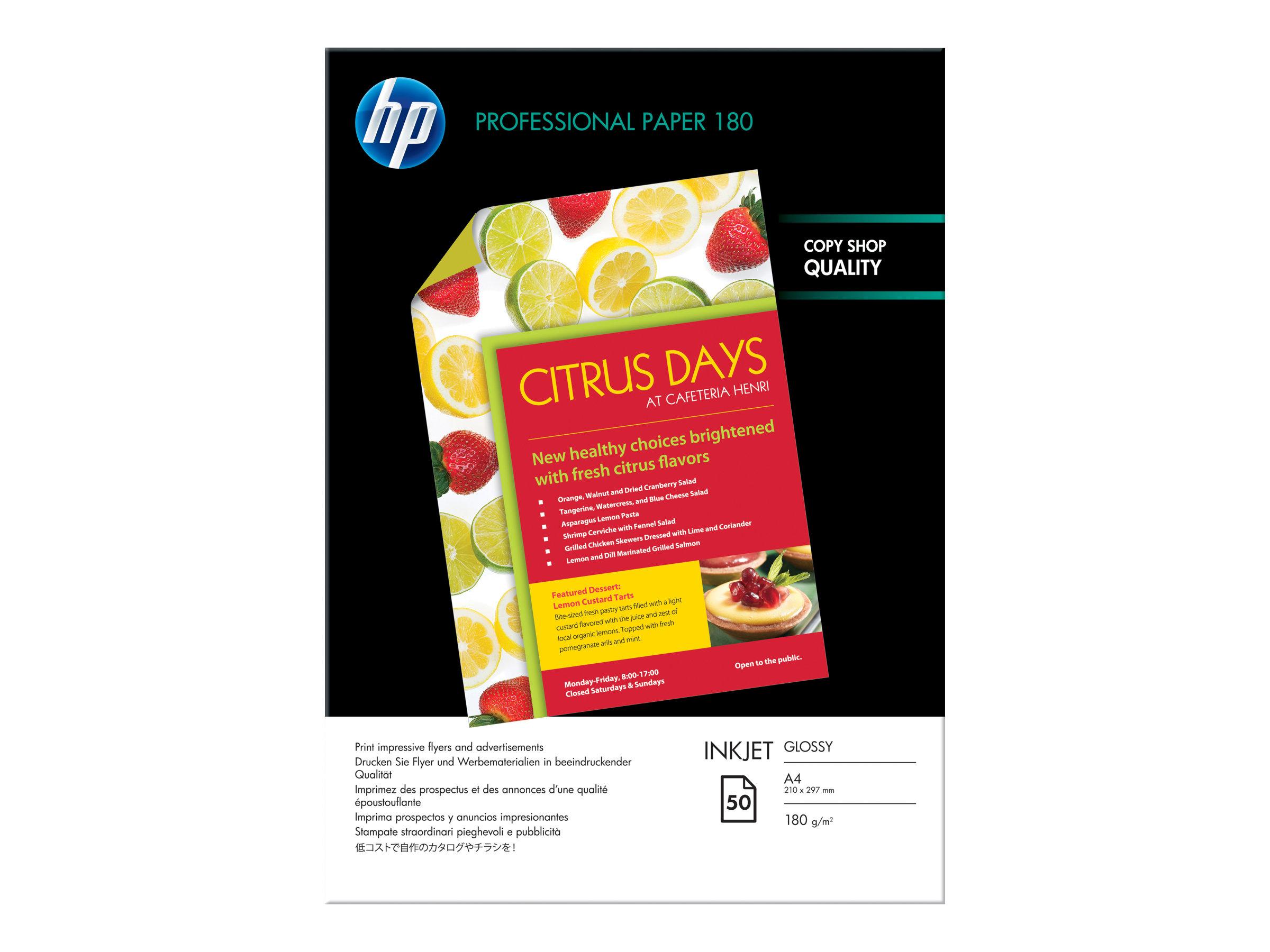 HP - papier glacé - 50 feuille(s)