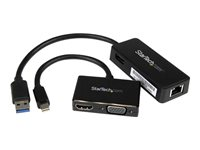 StarTech.com Juego de Adaptadores para Surface Pro - Mini DisplayPort a VGA y HDMI - USB 3.0 de Red Ethernet