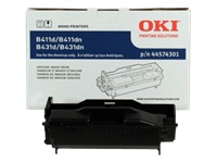 OKI - Black - original - drum kit - for B411, 412, 431, 432, 512; MB461, 471, 472, 491, 492, 562