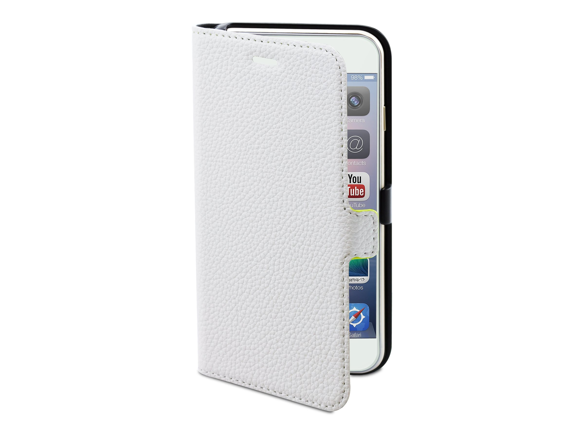 Muvit Slim Folio - Protection à rabat pour iPhone 6, 6s - blanc