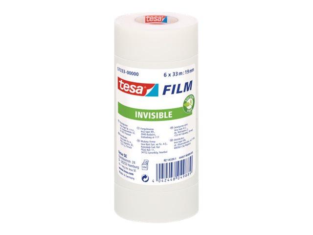 tesafilm Invisible ruban de bureau (6 rouleaux)