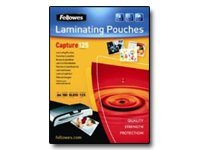 Fellowes Laminating Pouches Capture 125 micron - pack de 100 - brillant - pochettes plastifiées