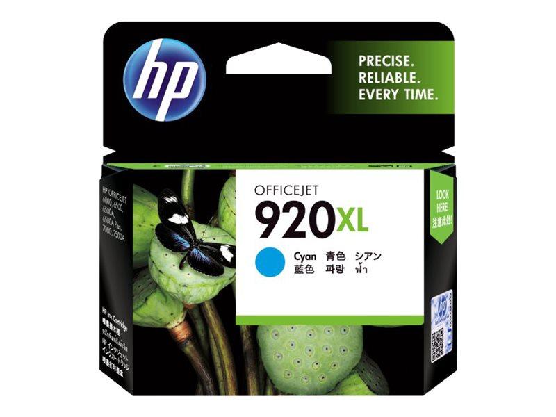 HP 920XL - à rendement élevé - cyan - original - cartouche d'encre
