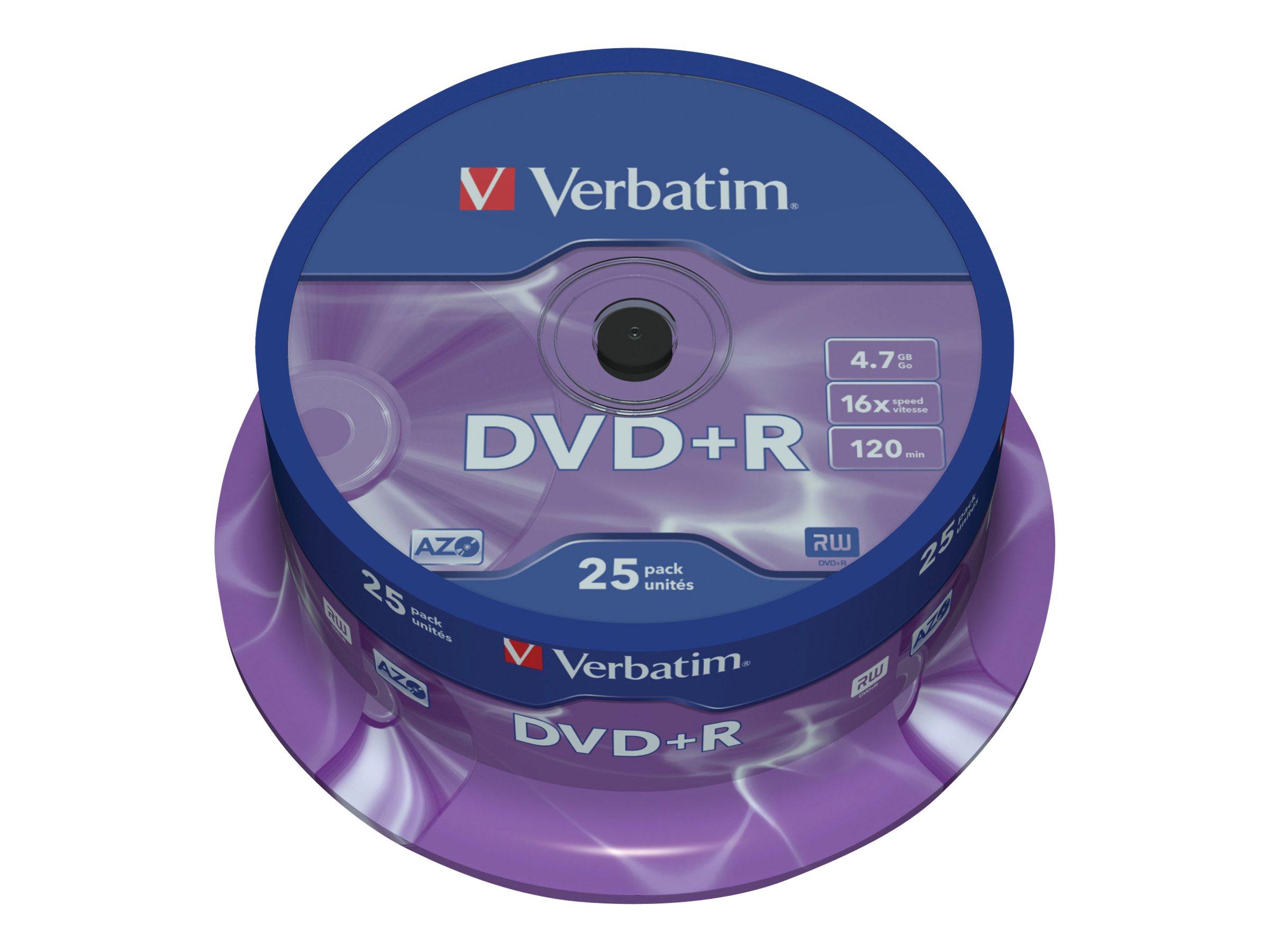 Verbatim DataLifePlus - DVD+R x 25 - 4.7 Go - support de stockage