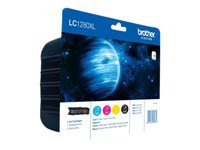 Brother LC1280XL Value Pack 4 pakker sort, gul, cyan, magenta original