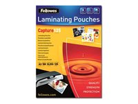 Fellowes Laminating Pouches Capture 125 micron 125 micron 100-pakke