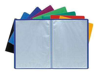 Exacompta Opaque - Porte vues - 20 vues - A4 - couleurs assorties