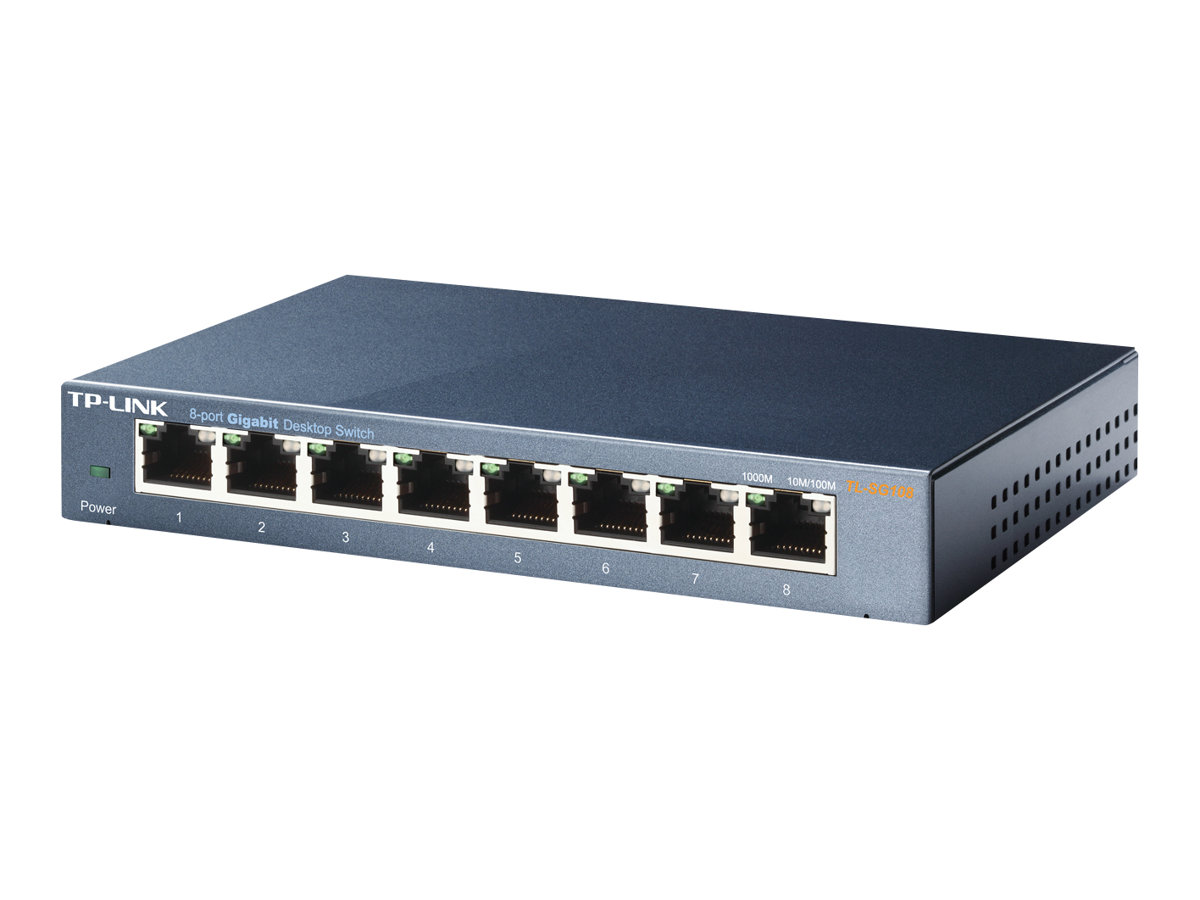 TP-LINK TL-SG108 8-port Metal Gigabit Switch - commutateur - 8 ports - non géré - Ordinateur de bureau