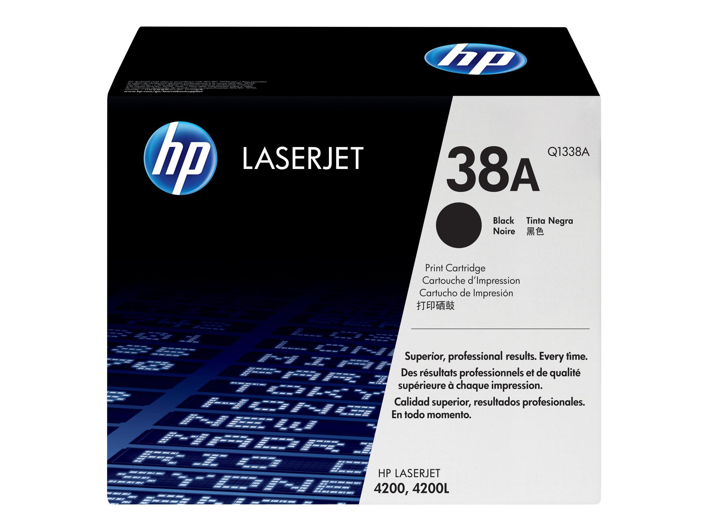 HP 38A - noir - originale - LaserJet - cartouche de toner (Q1338A)