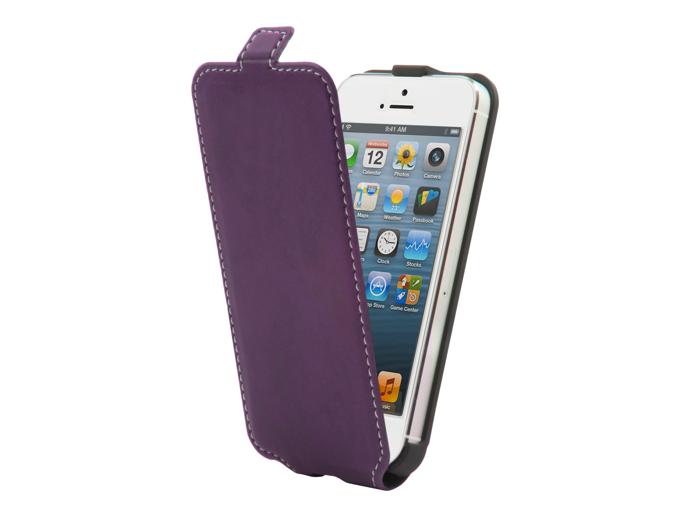 Muvit Made in Paris Slim - Protection à rabat pour iPhone 5, 5s - violet