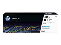 HP 410X - High Yield - black - original - LaserJet - toner cartridge (CF410X) - for Color LaserJet Pro M452, MFP M377, MFP M477