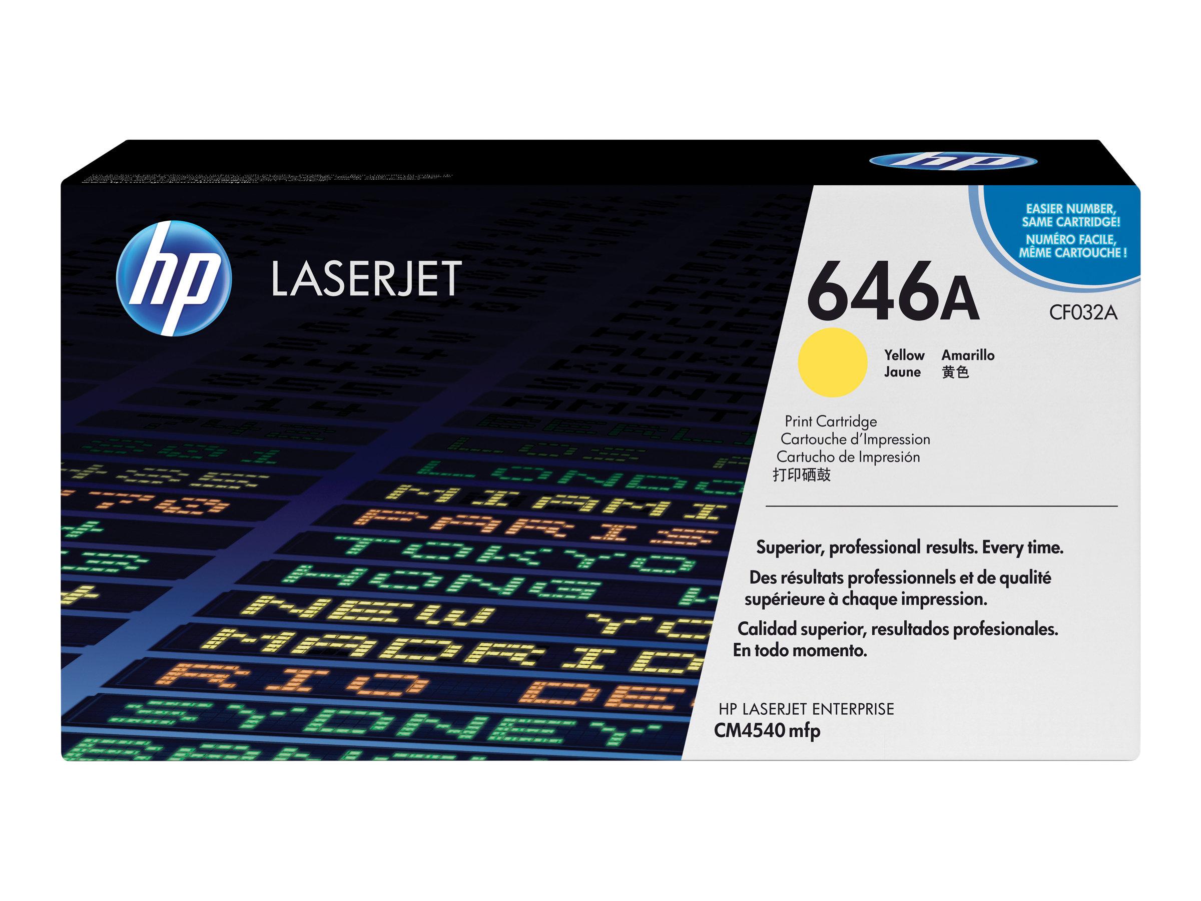 HP 646A - jaune - originale - LaserJet - cartouche de toner (CF032A)