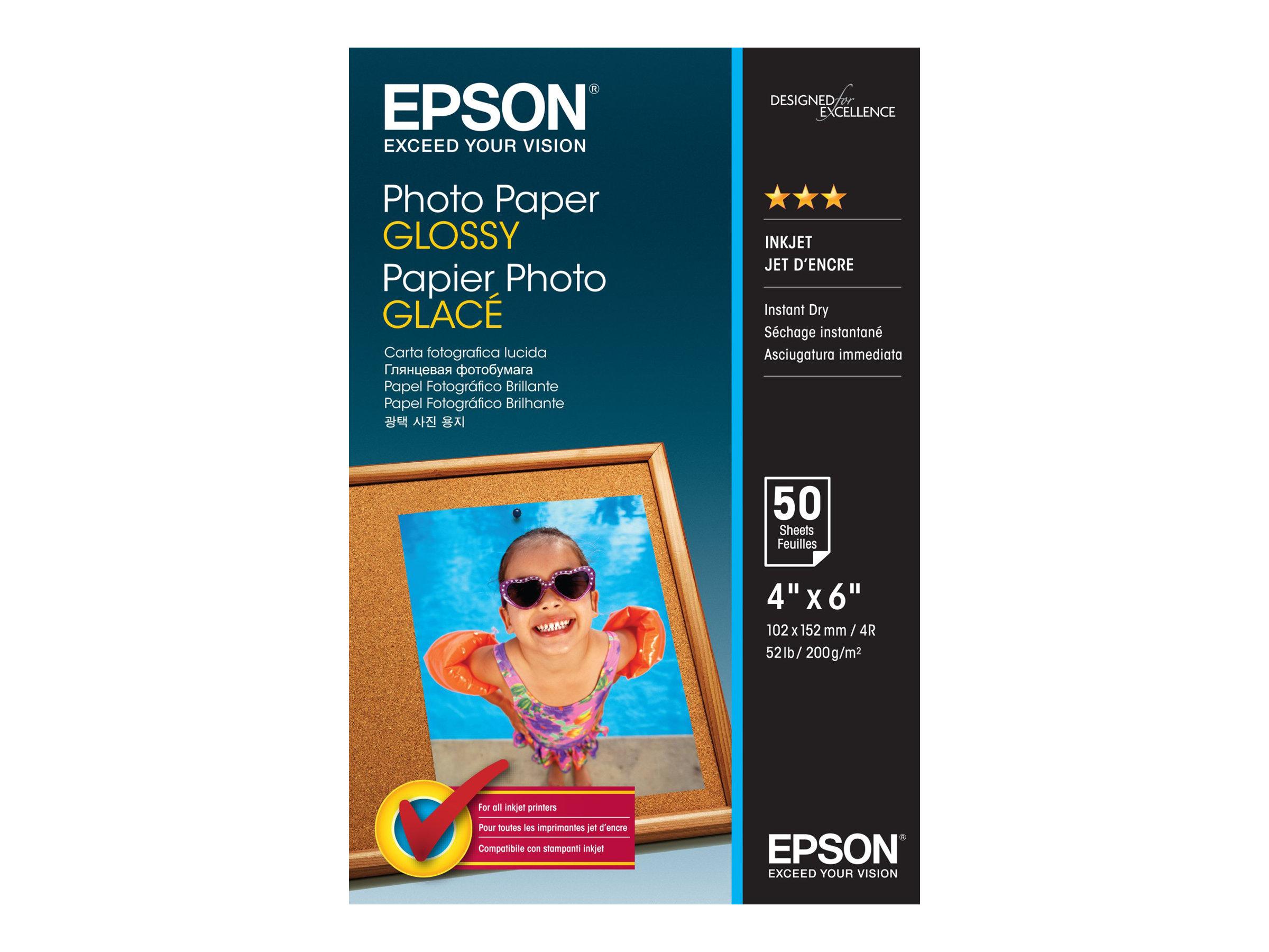 EPSON BRILLANTE 102 X 152 MM 200 GM2 50 HOJAS PAPE