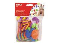 APLI kids - Forme à décorer - 104 mousses - lettres - bleu, jaune, rouge, vert, orange