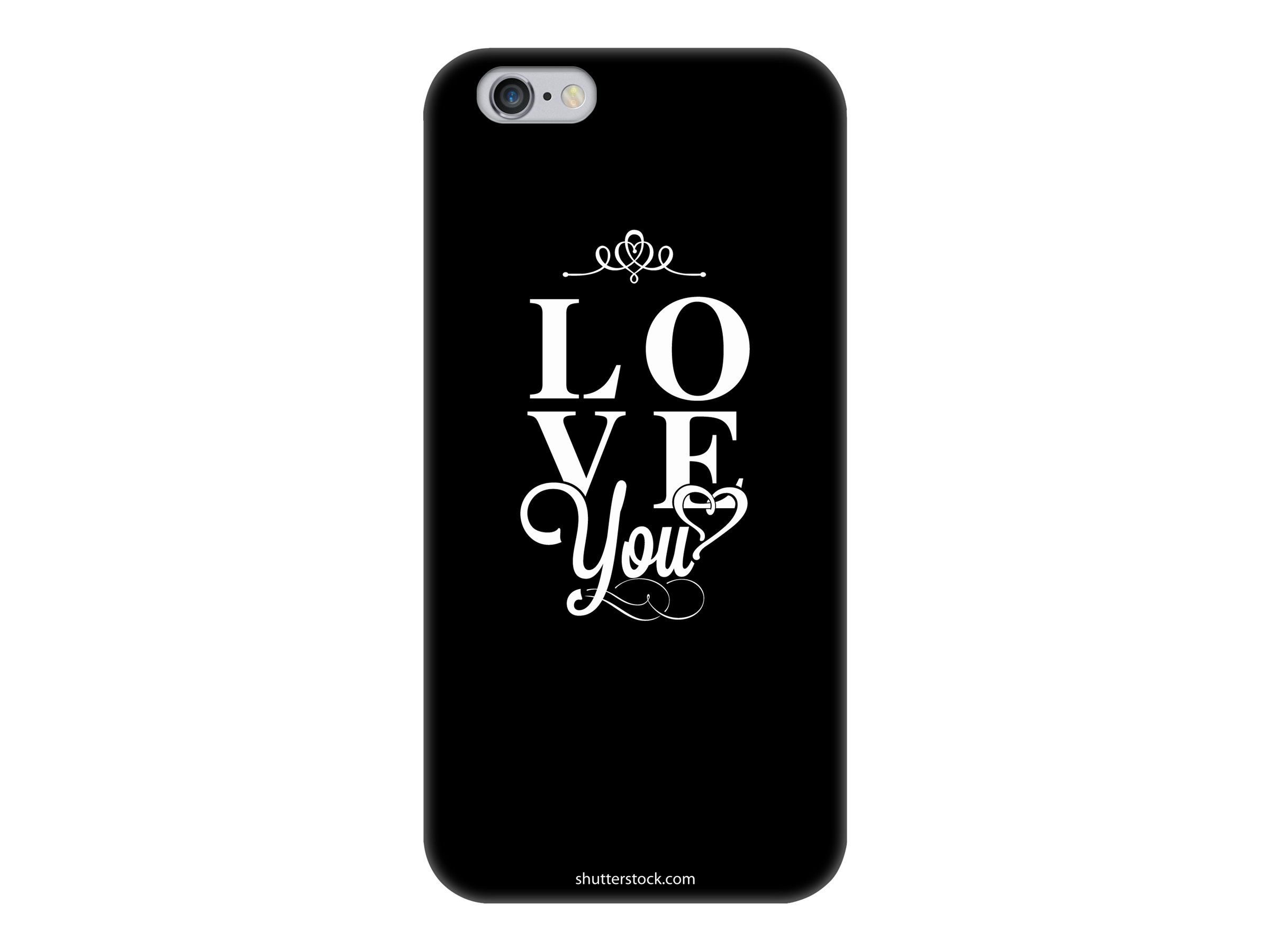 Muvit love you - Coque de protection pour iPhone 6 - noir, blanc