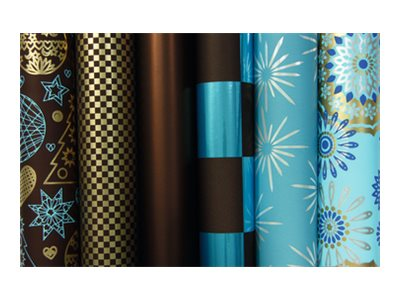 Clairefontaine Suprem Choc'Azur - papier cadeau - 1 rouleau(x)