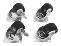deXlan kit de roulettes pour rack (à blocage)