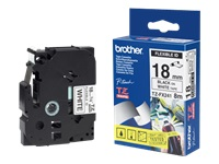 Brother TZ-FX241 - Black on white - Roll (0.7 in x 26.2 ft) laminated tape - for Brother PT-D600; P-Touch PT-1880, D450, D800, E550, E800, P900, P950; P-Touch EDGE PT-P750