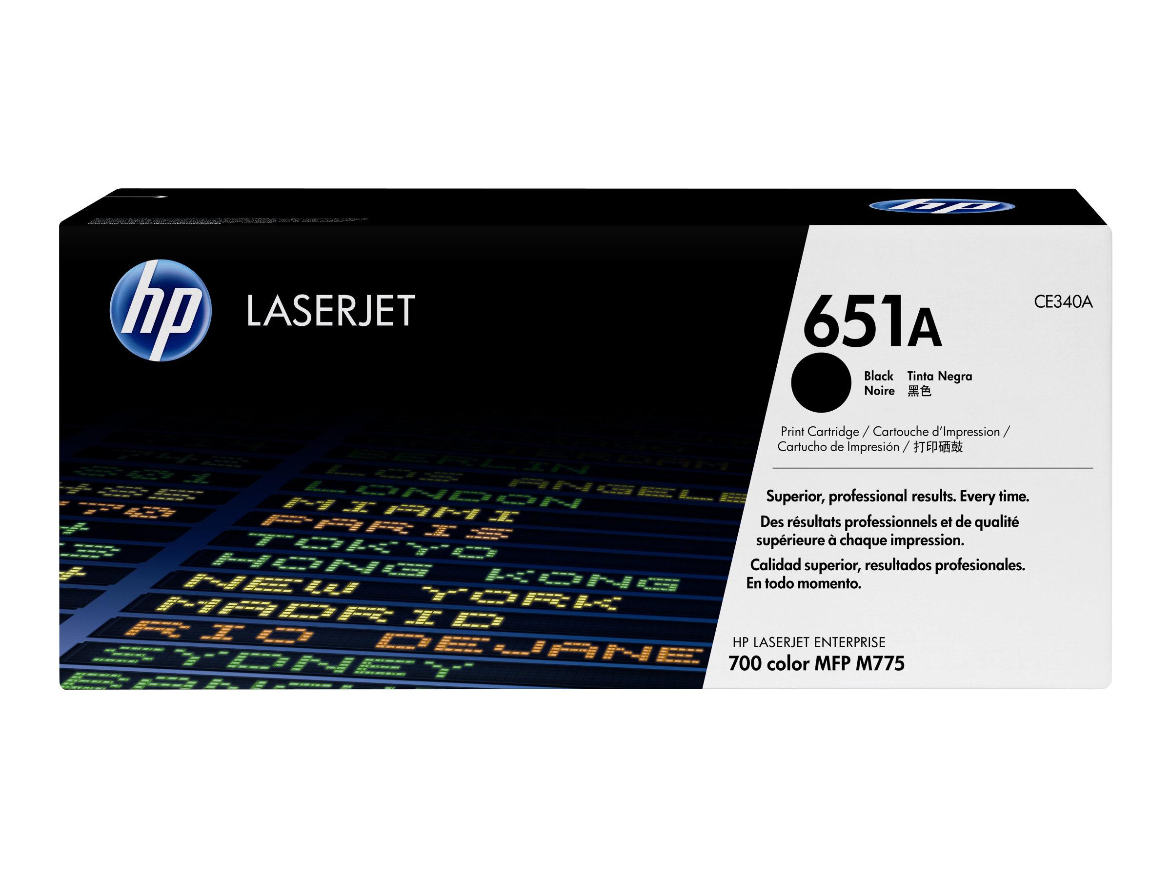 HP 651A - noir - original - LaserJet - cartouche de toner ( CE340A )