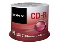 Sony CDQ-80SP 50 x CD-R 700 MB (80 min) 48x spindle