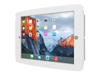 Compulocks iPad Secure Space Enclosure Wall Mount White - Mounting kit (anti-theft enclosure, removable home button cover, fit kit) for tablet - lockable - aluminum - white - wall-mountable - for Apple 12.9-inch iPad Pro