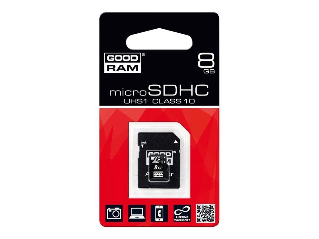 GOODRAM - carte mémoire flash - 8 Go - microSDHC UHS-I