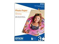 Epson - ANSI A (Letter) (216 x 279 mm) 20 hoja(s) papel fotográfico brillante - para Expression Home XP-434; WorkForce 1100, 610, WF-2520, 2530, 2540, 2750, 2760, 3540