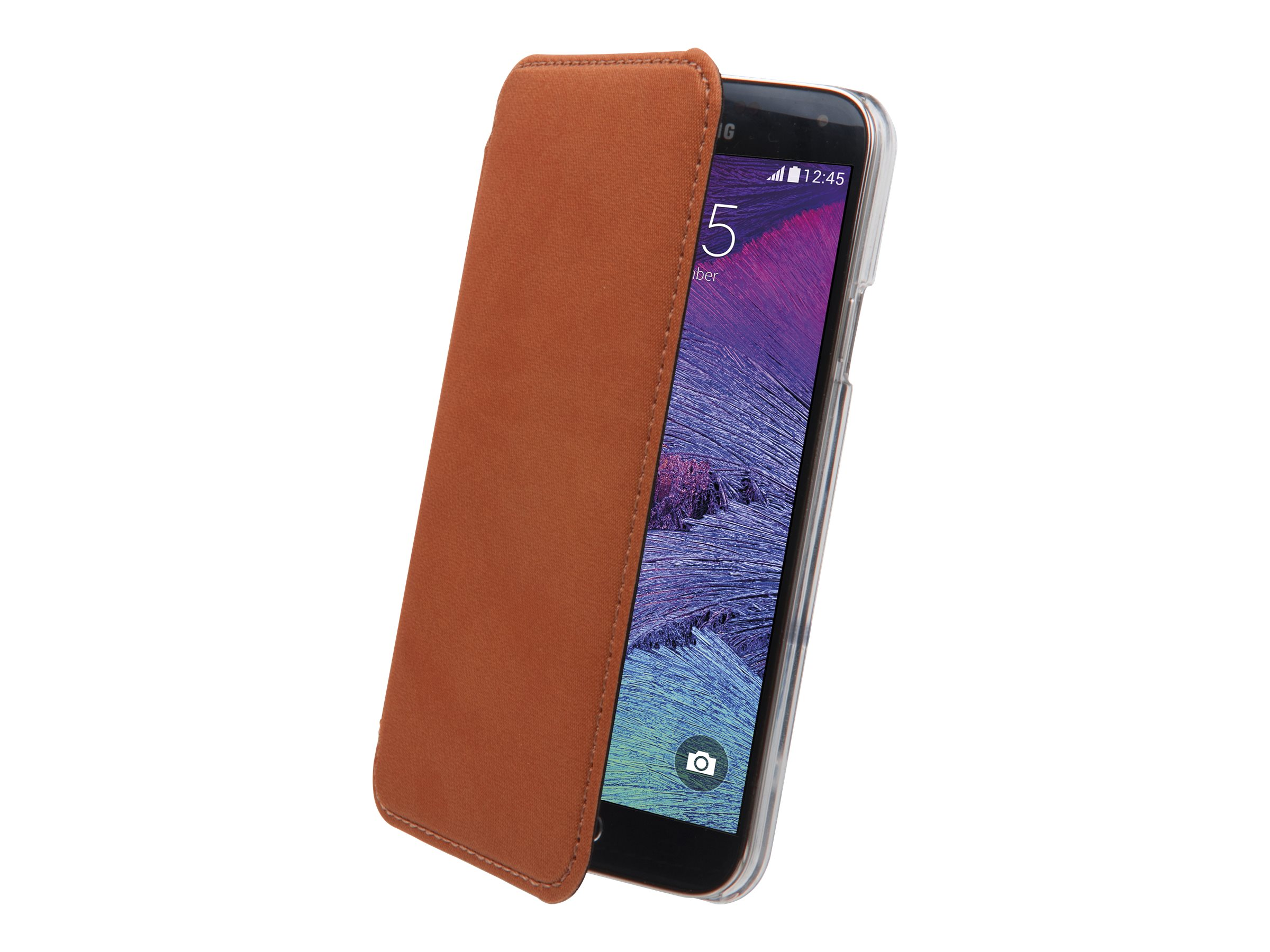 Muvit Made in Paris Crystal Folio - Protection à rabat pour Samsung GALAXY Note 4 - royal orange
