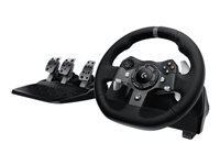 Logitech G920 Driving Force Rat og pedalsæt kabling