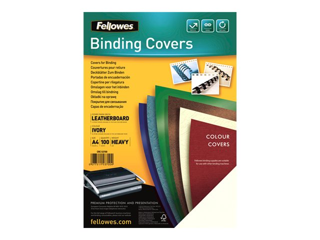 Fellowes Delta - 100 couvertures grain cuir à reliure - différents coloris