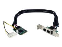 StarTech.com Carte FireWire Mini PCI Express 1394 2b 1a 3 ports