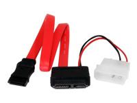 StarTech.com Câble adaptateur 30cm Slimline SATA vers SATA avec alimentation LP4
