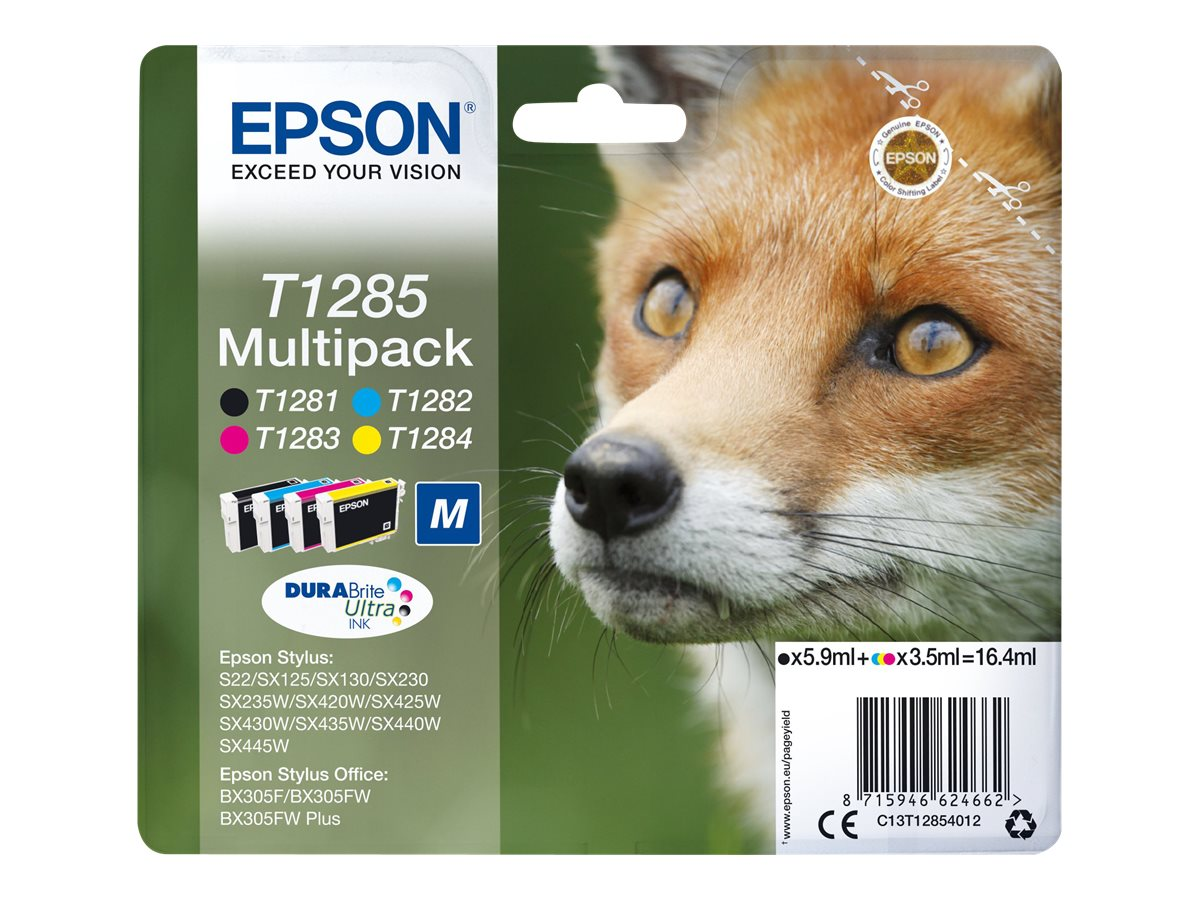 Epson T1285 - Renard - noir, jaune, cyan, magenta - original - cartouche d'encre - pack de 4