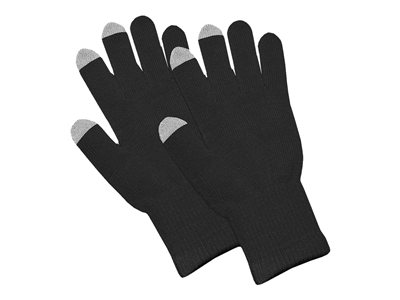 Amzer Capacitive Touch Screen Knit Gloves - Gloves - black