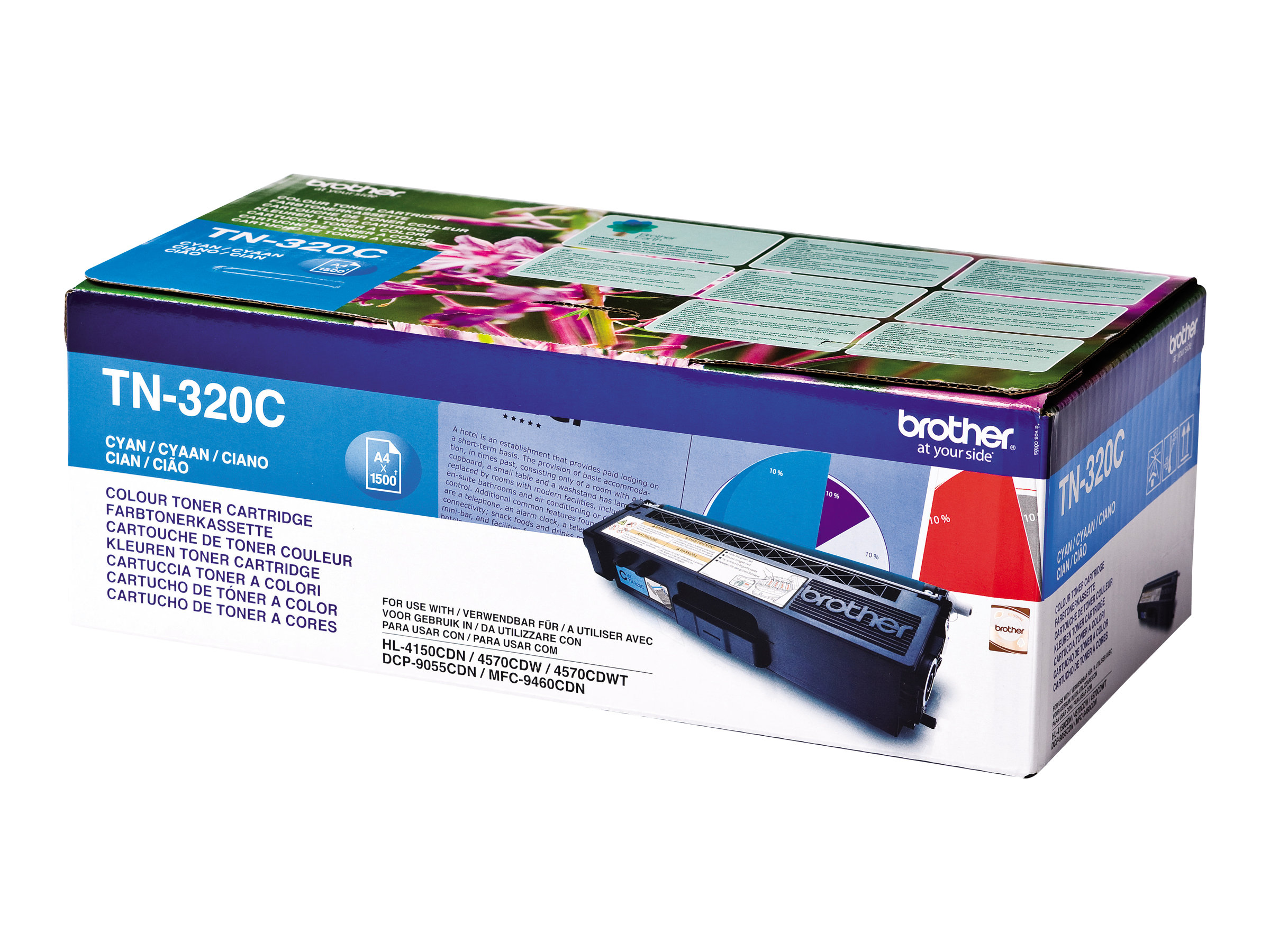 Brother TN320C - cyan - original - cartouche de toner