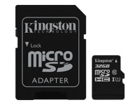 Kingston - Flash memory card ( microSDHC to SD adapter included ) - 32 GB