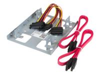 """StarTech.com Kit de Montage pour 2 Disques Durs 2,5 SATA dans Baie 3,5"""" - Adaptateur DD 2,5/3,5 - Bracket 3,5"""" pour HDD/SSD 2,5"""""""