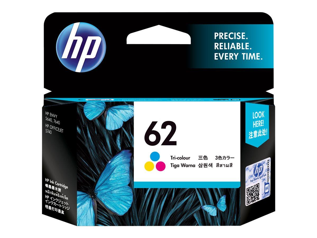 HP 62 - tricolore - originale - cartouche d'encre