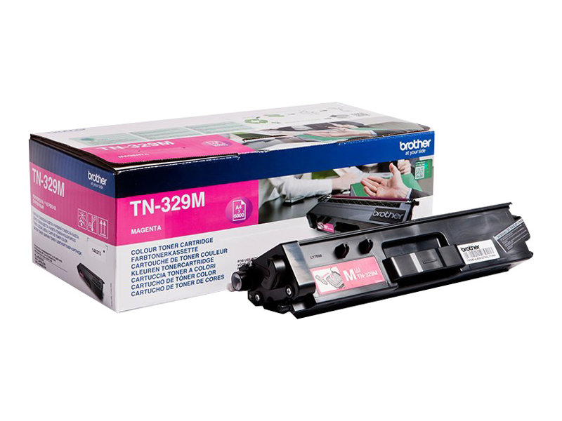 Brother TN329M - magenta - originale - cartouche de toner