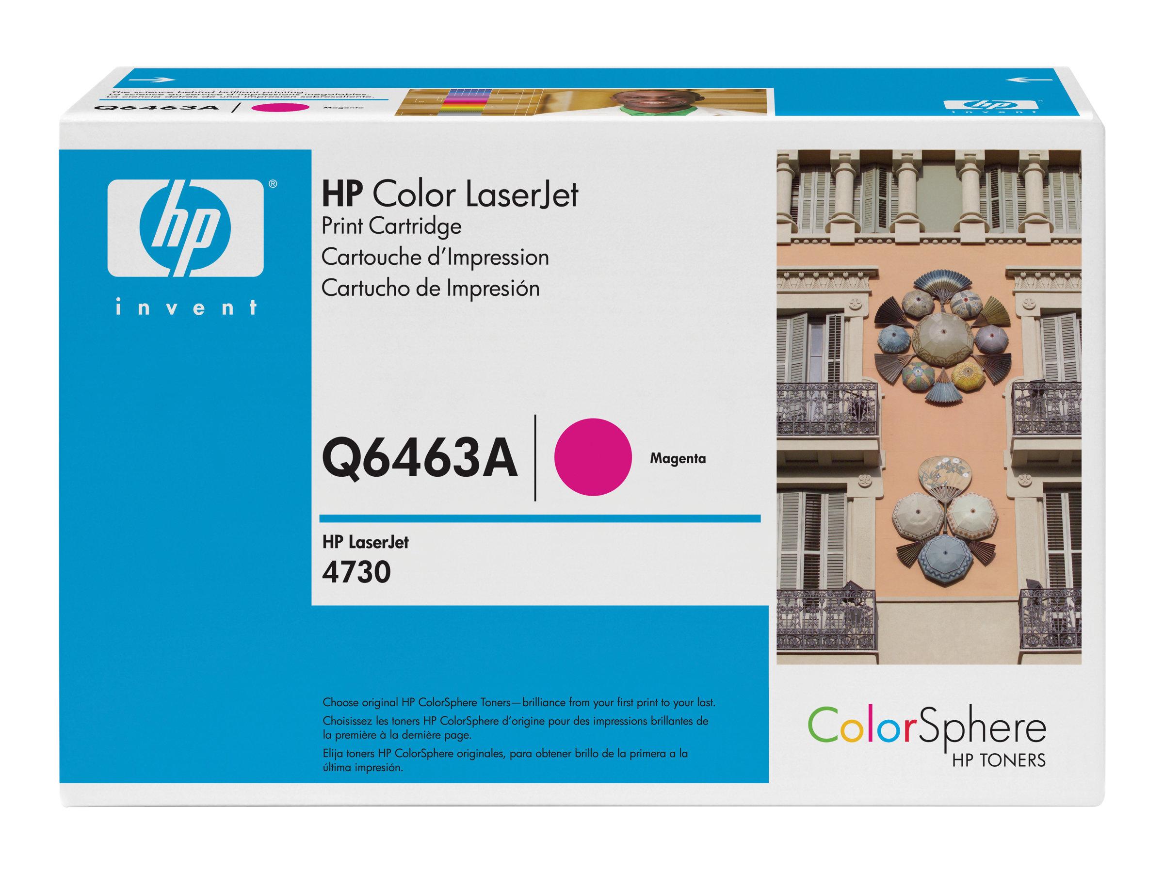 HP 644A - magenta - originale - LaserJet - cartouche de toner (Q6463A)